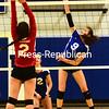 Saranac Lake plays Peru in girls volleyball, Monday October 5th, 2015 in Peru. (ROB FOUNTAIN/STAFF PHOTO)