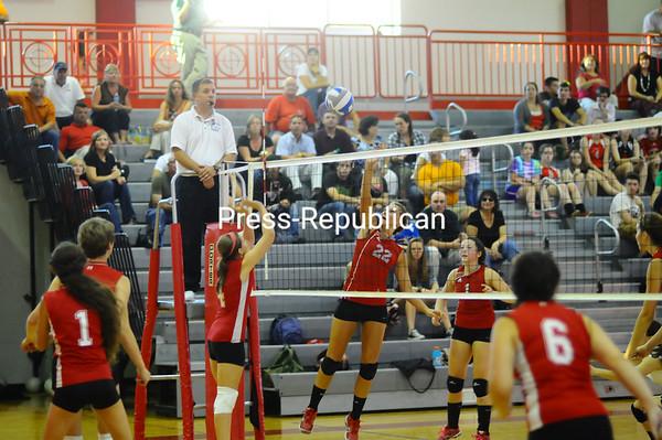 Monday, September 12, 2011. Beekmantown Central High School vs. Saranac Lake High School in Beekmantown.  BCS won 3-0.<br><br>(Staff Photo/Kelli Catana)