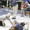 Section 7 coah Hogan coaches his son Patrick in this 119-lb bout in the opening round of competition at the state championships on Mar.8, 2008, in Rochester, N.Y.It's Hogan's first time coaching his son at the states.  . (Photos for The PR by Mike Okoniewski)<br><br>(PR-Photo/Michael Okoniewski)