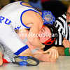 Monday, February 25, 2008. Section VII finals tournament at Saranac.  Beekmantown wrestlers won the Section VII title.<br><br>(Staff Photo/Rob Fountain)