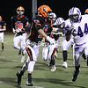 Senior Russ Gallo III (44) has been tabbed as Ticonderoga's primary running back. Gallo and the Sentinels finished the regular season undefeated but fell to Moriah in the Section VII Class D championship last year.<br /> KAYLA BREEN/Staff Photo