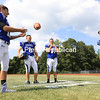 From left, Ryley O'Connell, Robert Reynolds, Matt Latinville and Austin Carpenter are expected to be leaders on and off the field for Peru. The Indians won the Section VII Class B football title with a 7-6 defeat of Plattsburgh High last season.<br /> KAYLA BREEN/STAFF PHOTO