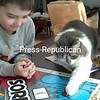 Cinder Always Wins at Board Games!!!<br /> <br /> Photographer's Name: Eric  Day<br /> Photographer's City and State: Plattsburgh, NY