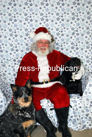 Ella and Tucker with Santa 2013<br /> <br /> Photographer's Name: Doug and Linda Pilon<br /> Photographer's City and State: Chazy, NY