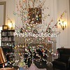 Girl Scouts put egg tree up at the Paine Memorial Free Library.<br /> <br /> Photographer's Name: Cheryl Blanchard<br /> Photographers City and Country: Willsboro, UM