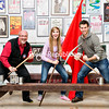 Left to Right: Gilles Fortin (from Chazy), Heather Yassick and Michael Yassick (students at SUNY Plattsburgh) are cast members in Lyric Theatre Company's production of Les Misérables. Please give photo credit to Karen Pike Photography.<br /> <br /> Photographer's Name: Patricia Boera<br /> Photographer's City and State: Burlington, VT