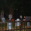 "For the past four years, the Downs' Haunted House has been an attraction attended by many in the town <br /> <br /> of Peru on Halloween night. The yard is decorated with a ghoulish cemetery of 35 hand crafted gravestones, <br /> <br /> a creepy corn field with a frightful scarecrow, glowing lights of orange, and a scary house of horror. On <br /> <br /> Halloween night, free of charge to the public - a display of 20-25 eerie characters also come out to cause havoc<br /> <br /> and chill individuals to the bone. <br /> <br />  <br /> <br /> This has become a hobby to me and my husband, Bill. We begin October 1st to prepare sceneries, make costumes, <br /> <br /> and think of new ""gotcha"" projects. We have about 30 family and friends that help us put on this ""show of terror"" <br /> <br /> that lasts 4-5 hours."