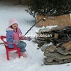 Jan 21st 10 degrees is not too cold for Victoria labombard who wants to roast marshmallows for her grandfather Jerry Vincent or PAPA<br /> <br /> Photographer's Name: jerry vincent<br /> Photographer's City and State: altona, NY