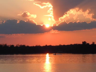 Sunset -- Taken from the Rouses Point Bridge -- July 4, 2011