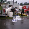 Martin Mischenko giving a helping hand to others, after a terrifying storm at the 2008 Clinton County Fair .