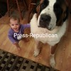Another picture of Mia with her big buddy Oliver. <br /> <br /> Photographer's Name: Pam Dickinson<br /> Photographer's City and State: Peru, NY