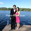 Jay Reid and Elena Bushy readying for the 2014 Lake Placid Jr/Sr prom with Mirror Lake as their backdrop.<br /> <br /> Photographer's Name: Lora Bushy<br /> Photographer's City and State: Wilmington, NY