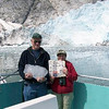 Frank Preston left the pages of the Press-Republican to Julie Lattrell of Keeseville and instead chose to hold a chunk of ice off the Northwestern Glacier in the Kenai Fjords, Alaska, during a cruise aboard the Alaskan Explorer on July 23.