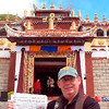 Paul Adams of Peru, who last year brought his Press-Republican to the Great Wall of China, brought it with him this year to a Buddhist temple in Western China on the Tibet Plateau while he and his wife, Kim, were visiting their son, David, who teaches English there.