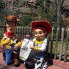 Shaylee Staves of Plattsburgh celebrates her fifth birthday in Disney with everyone's favorite cowboy, Woody, and Jesse the Yodeling Cowgirl, while all three see what headlines made it into the Press-Republican.