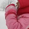 My daughter, Corlin, getting a taste of winter.