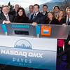 Nasdaq OMX Team just before the Opening Bell at Davos