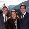 From Left: Hans-Ole Jochumsen, Executive Vice President of Transaction Services Nordics for NASDAQ OMX; Mrs. Greifeld and Bob Greifeld, CEO of Nasdaq OMX