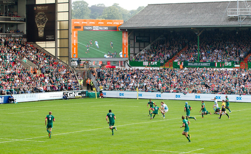 Leicester Tigers in their match against Newcastle Falcons, Leicester, September 7 2014