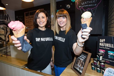 Aisling Murphy and Louise Ryan, Oh! Naturelle Ice Cream at the launch of the Cork's English Market Start-Up Stall, a rare chance for small food businesses to test the market...literally! The renowned English Market is giving local food-based business start-ups the opportunity to trade in Ireland's oldest and best food market, for short-term lets, of up to six weeks. The project is an initiative by The English Market and Cork City Council aimed at produce that will compliment, rather than duplicate, that of The English Market's. Pic Darragh Kane