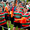Burntwood Rugby Team at the Tigers in the Park event ahead of Leicester Tigers v Newcastle Falcons, Leicester, September 7 2014