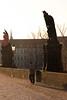 Beret Man Looking Back, Charles Bridge, Prague at Dawn