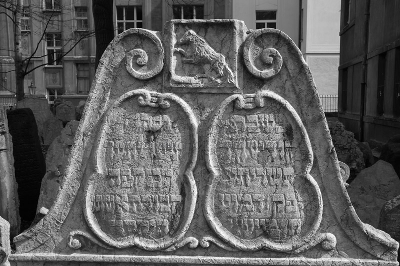 """Jewish Gravestone, Prague"""