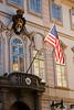 """American Embassy, Prague,"" color photo"