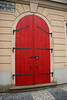 """Red Door, Prague,"" color photo"