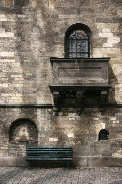 """Balcony and Bench, Jewish Cemetery, Prague"""