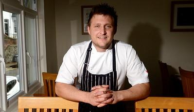 Portrait of Slice restaurant chef, Adam Bannister.