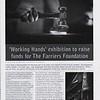 'Working Hands' Exhibition article