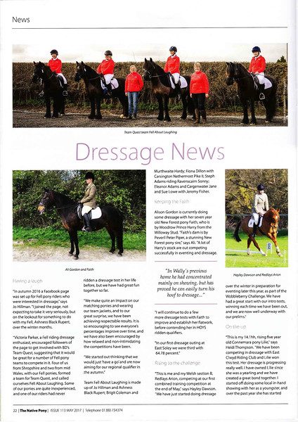 Dressage News May 2017