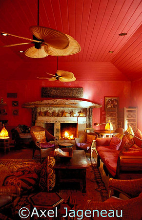 Interior of Hotel Pink Sand, located on Harbour Islands, Bahamas.