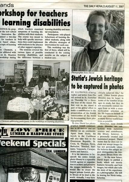 Daily Herald, The. St. Maarten, Netherlands Antilles. August 11, 2007