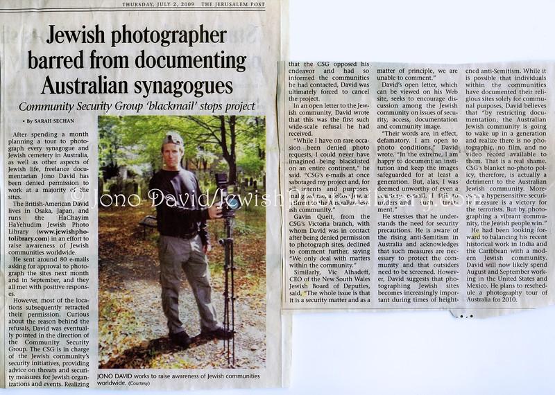 CSG Australia  Jerusalem Post  July 2, 2009