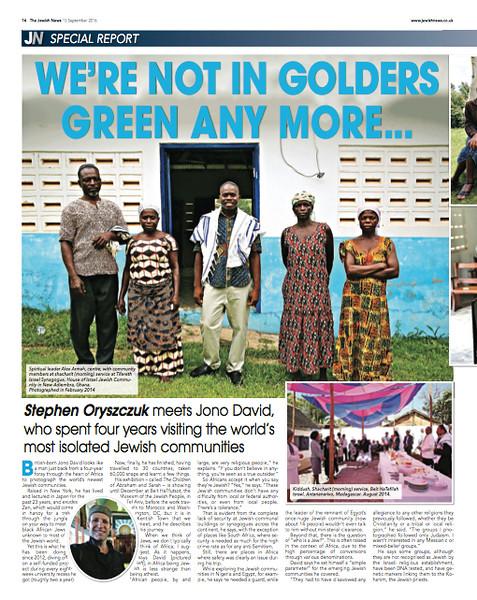 JewishNews (UK), September 15, 2016, p 14