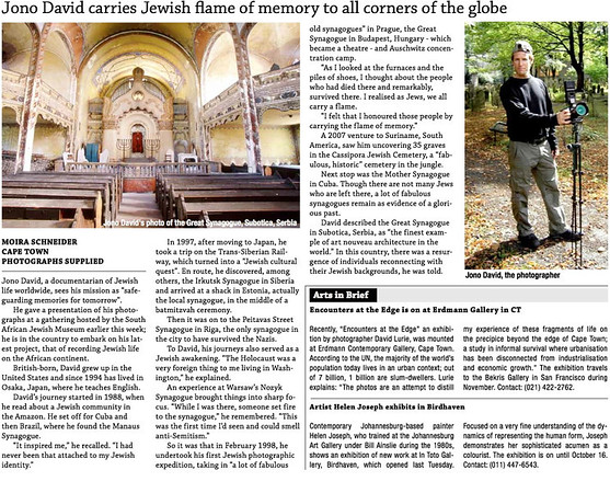 Jewish Report (South Africa), Fri Sept 7, 2012 (Vol 16, No. 33)