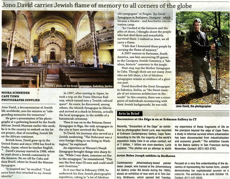Jewish Report (South Africa), Fri Sept 7, 2012 (Vol 16, No  33)