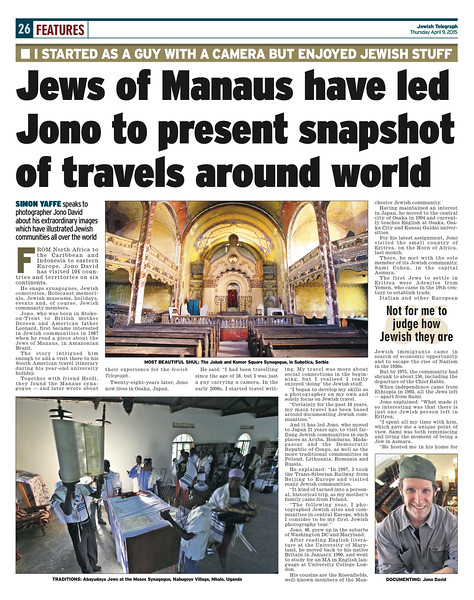 Jewish Telegraph, UK. Thursday, April 9, 2015