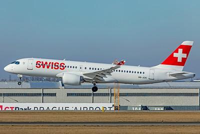 Swiss Airbus A220-300 HB-JCK 2-24-19