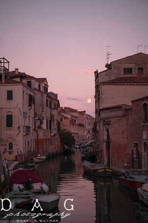 Moonrise Venice