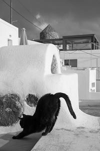 A good stretch in Santorini, Greece.
