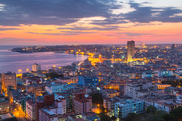 Sunset over Havana.