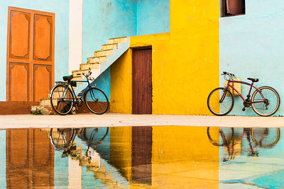 Bicycles and Reflections, Trinidad.