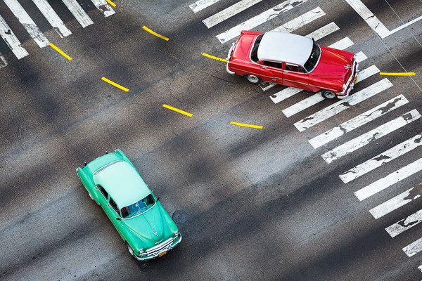 Cars at intersection #1