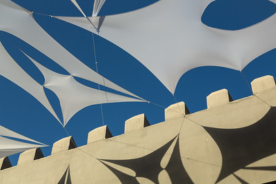 Abstract of roof coverings, Morocco.