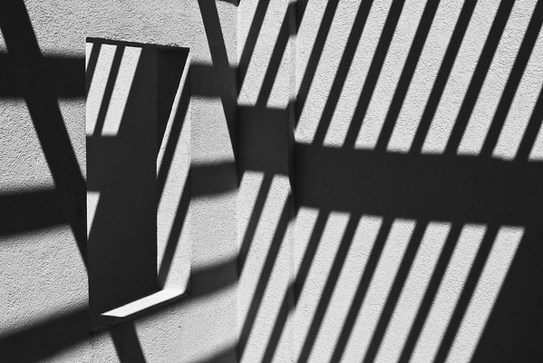 Abstract detail of wall with shadows.