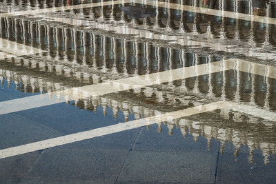 St. Mark's Square, reflected.