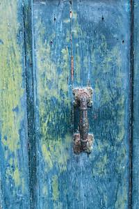 Weathered Blue Door.